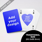 Heart To Heart Series Custom Front And Back Playing Cards In Bridge Style (63.5 X 88.9mm)