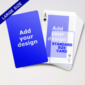 Large Playing Cards Series Double Face Classic Poker