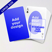Large Playing Cards Series Double Face Oval Back Poker