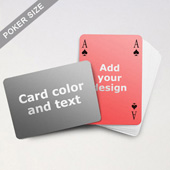 Simple Bridge Style Poker Size Personalized Both Sided Landscape Back Playing Cards (63.5 X 88.9mm)