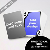 Modern Personalized Both Sided Playing Cards (63.5 X 88.9mm)