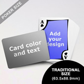 Modern Personalized Both Sided Landscape Back Playing Cards (63.5 X 88.9mm)