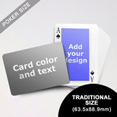 Classic Personalized Both Sided Landscape Back Playing Cards (63.5 X 88.9mm)