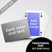 Classic Bridge Style Poker Size Personalized Both Sided Landscape Back Playing Cards (63.5 X 88.9mm)