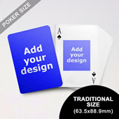 Centre Portrait Photo Custom Front And Back Playing Cards (63.5 X 88.9mm)
