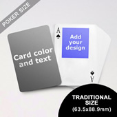 Top Portrait Photo Personalized Both Sided Playing Cards (63.5 X 88.9mm)