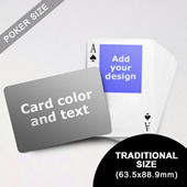 Top Portrait Photo Personalized Both Sided Landscape Back Playing Cards (63.5 X 88.9mm)