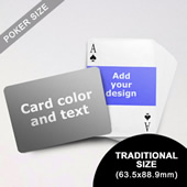 Landscape Photo Personalized Both Sided Horizontal Back Playing Cards (63.5 X 88.9mm)