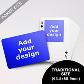 Top Portrait Photo Custom Front And Landscape Back Playing Cards (63.5 X 88.9mm)