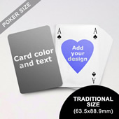 Heart To Heart Series Custom Back Playing Cards In Bridge Style (63.5 X 88.9mm)