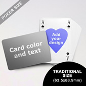 Heart To Heart Series Custom Back Playing Cards In Bridge Style (Landscape) (63.5 X 88.9mm)