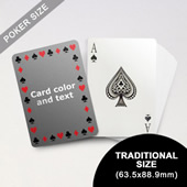 Timeless Frame Poker With Custom Message (63.5 X 88.9mm)