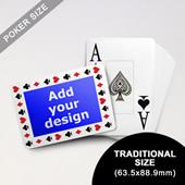 Timeless Frame Custom Poker With Jumbo Index (Landscape) (63.5 X 88.9mm)