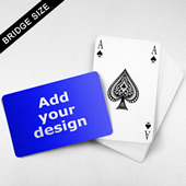 Bridge Index Playing Card Wide Surface
