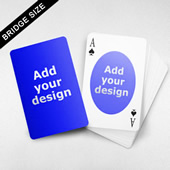 Bridge Size Playing Cards Oval Back