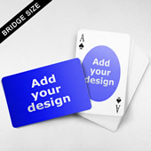 Bridge Size Playing Cards Oval Back, Wide Angled Front