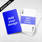 Bridge Size Playing Cards Horizontal Frame Back