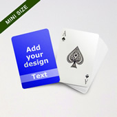Mini Card Series Custom Front With Transparent Text