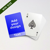 Mini Card Series Custom Front With Transparent Bottom Banner