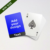 Mini Card Series Custom Front With Bottom Banner In Black