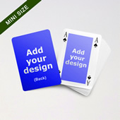 Mini Card Series Classic Bridge Card With Double Faces For Customization
