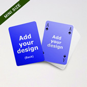 Mini Card Series Double Faces Bridge Style Blank Card