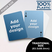 Plastic Poker Size Custom 2 Sided (63.5 X 88.9mm)