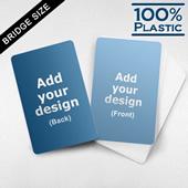 Bridge Size Custom Plastic Cards (Blank Cards)