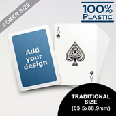 White Border Custom Plastic Poker Cards (63.5 X 88.9mm)