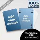 Custom Sided Plastic Poker Simple Bridge Style (63.5 X 88.9mm)