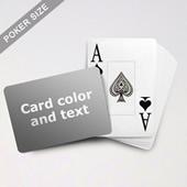 Jumbo Index Cards Poker Size With Custom Message (Landscape)