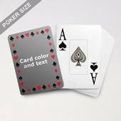 Timeless Frame Poker With Custom Message & Jumbo Index
