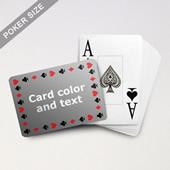 Timeless Frame Poker With Custom Text & Jumbo Index (Landscape)