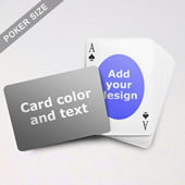 Ovate Personalized Both Sided Landscape Back Playing Cards