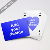 Heart To Heart Series Custom Front And Back Playing Cards In Bridge Style (Landscape)