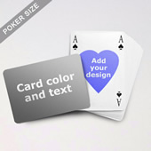 Heart To Heart Series Custom Back Playing Cards In Bridge Style (Landscape)