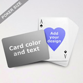 Heart To Heart Series Custom Back Playing Cards (Landscape)