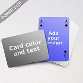 Simple Bridge Style Poker Size Personalized Both Sided Landscape Back Playing Cards