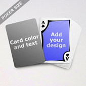 Modern Personalized Both Sided Playing Cards
