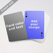Simple Personalized Both Sided Playing Cards