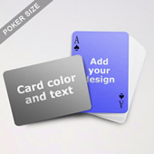 Simple Personalized Both Sided Landscape Back Playing Cards