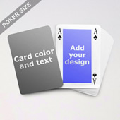 Classic Bridge Style Poker Size Personalized Both Sided Playing Cards