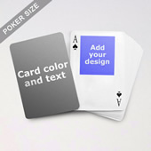 Top Portrait Photo Personalized Both Sided Playing Cards