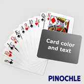 Pinochle With Personalized Message (Landscape)