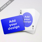 Ovate Custom Front And Landscape Back Playing Cards
