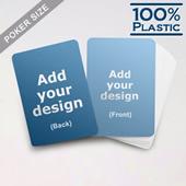 Plastic Poker Size Custom Game Cards (Blank Cards)