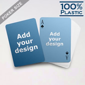 Plastic Poker Size Custom 2 Sided