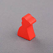 Doggy Wooden Pawn Red