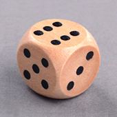 16mm Wooden Dice
