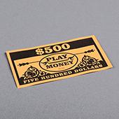 Paper Money Five Hundreds Dollars